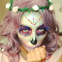 Sugar Skull MakeUp by Instagramer lara_elle_make_up