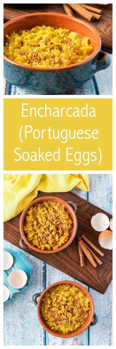 Encharcada (Portuguese Soaked Eggs) from the #cookbook #CulinaEurope  #ad #encharcada #egg #eggyolk #dessert #portugal #portuguese