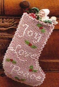 christmas+crochet+patterns+free+online | free crochet Christmas Stocking Pattern | Crochet...Christmas