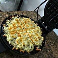 Waffle Iron Hash Browns - I will have to try this! So easy - and NO mess!