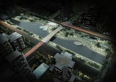 competition, shanghai, park, urban, render, visualization