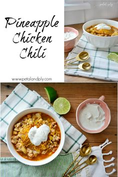 I don't know about you but cold weather makes me crave a nice hot bowl of chili. I love pretty much every kind of chili but my favorite is white chicken chili. As I was looking through my pan…