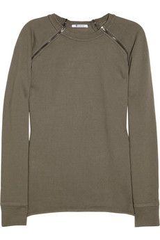 zipped sweatshirt / t by alexander wang