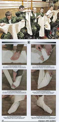 Portyanki foot-cloths - pieces of cloth for wrapping legs, lingerie for the…