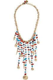 Rosantica Appeso brass and bead necklace