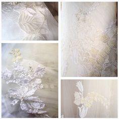 Detalhes do vestido da nossa noivinha linda Renata Floret... Wedding Dress Atelier Carla Gaspar.