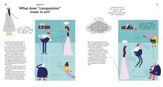 Discover the meaning of composition in art with this illustrated lesson. 'The School of Art' by Daniel Frost.