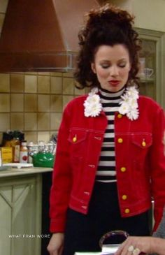 What Fran Wore: Moschino Daisy Collar Jacket Fashion Tv, Retro Fashion, Girl Fashion, Vintage Fashion, Fran Fine Outfits, Sheffield, Unif Clothing, Nanny Outfit, Tv Show Outfits