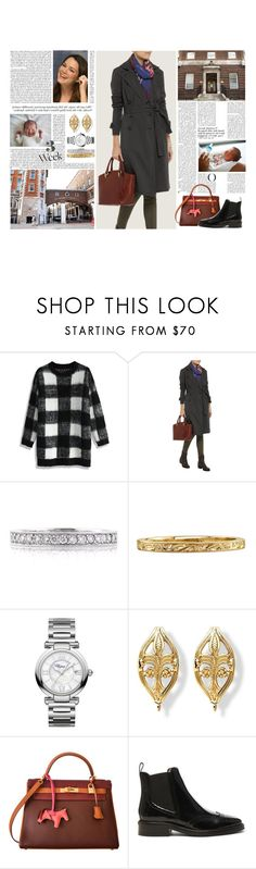 """""""Untitled #2828"""" by duchessq ❤ liked on Polyvore featuring Chicwish, James Perse, Mark Broumand, Chopard, Hermès and Burberry"""