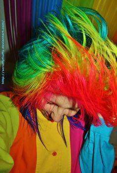 #rainbow #hair