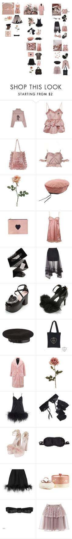 """""""Untitled #131"""" by bubblegumbae ❤ liked on Polyvore featuring VIVETTA, La Vie en Rose, Odd Molly, Gerbe, Yves Saint Laurent, Myla, Reger by Janet Reger, Topshop, L'Agent By Agent Provocateur and Lanvin"""