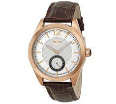 Hugo Boss Rose Gold Bezel Men's Watch