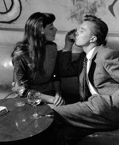 France. juliette gréco and philippe lemaire, paris, 1954 // by nico jesse