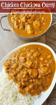 One Pot Chicken Chickpea Curry Chicken And Chickpea Curry, Chicken Breast Curry, Coconut Curry Chicken, Boneless Chicken Breast, Chicken Curry, Indian Food Recipes, Asian Recipes, Indian Chicken Recipes, Recipe Chicken