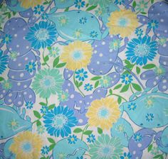 New Lilly Pulitzer Fabric White Kng Crab  by designerfabricdotcom, $9.99