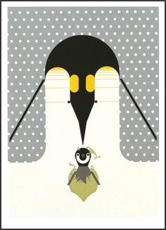 Charley Harper Store | Brrrrrthday signed & numbered - Serigraph Print | Largest Dealer in the World