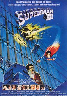 Christopher Reeve in Superman III. Batman Vs Superman, Superman Movies, Superman Family, Superman Man Of Steel, Superhero Movies, Fantasy Movies, Sci Fi Movies, Action Movies, Good Movies
