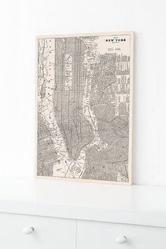 New York City Wood Print Historic Map Home by DesignOutfitters