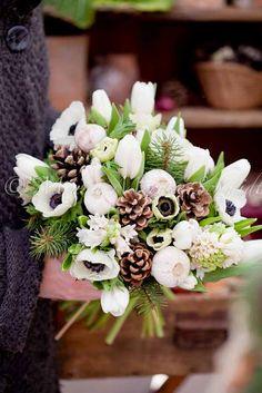 Decor - Holiday Christmas - Winter bouquet