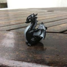 Evil Wyvern Dragon by JinjinCrafts Handmade with Polymer Clay