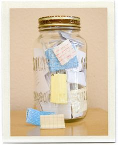 Start on Jan 1 with an empty jar. Throughout the year write the good things that happened on little pieces of paper.  On Dec 31 open the jar and read all the amazing things that happened to you that year.  A nice tradition to replace the previous ones .