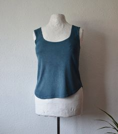 Silk blouse jersey tank top naturally dyed by EthicalLifeStore