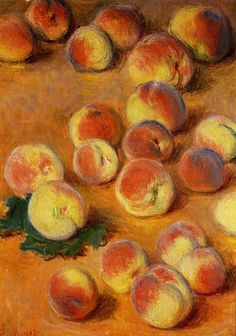 Peaches - Claude Monet 1883