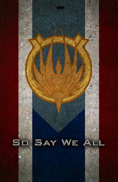 Battlestar Galactica Caprica Flag - Poster by Michael Stuckey