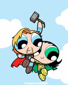 Powerpuff Girls and the Avengers combine to save the world (or just be adorable)