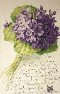 .China Painting - Violets