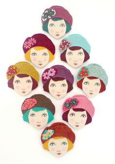 Louise brooches by Yalipaz - Art and accessories, via Flickr