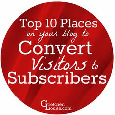 Want to convert more of your visitors to active subscribers? Find out the top 10 places on your blog to put subscription forms--and the best methods and plugins to use!