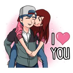 Can't figure out how to express your feelings? Here are some cute couple stickers. You can use this stickers for daily conversation and express your feelings. Cute Love Quotes, Cute Love Pictures, Cute Cartoon Pictures, Cute Love Stories, Cute Love Gif, My Love, Love Cartoon Couple, Cute Love Cartoons, Anime Love Couple