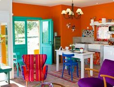 Creative Colorful Apartment Decor Ideas And Remodel for Summer Project – Home Design Room Colors, House Colors, Colorful Apartment, Sweet Home, Interior Decorating, Interior Design, Colorful Decor, Colorful Rooms, Boho Decor