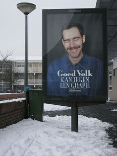 can take a joke (Advertisement for newspaper de Volkskrant) August 23, 2013   Funny - Hilarious Signs & Billboards