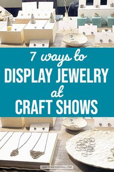 Lots of photos of creative jewelry displays at craft shows and plenty of ideas to display & start selling your own handmade jewelry at art fairs & markets. Craft Show Booths, Craft Show Displays, Jewelry Displays, Display Ideas, Vendor Displays, Store Displays, Photo Displays, Wholesale Crafts, Wholesale Craft Supplies