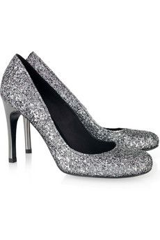 Are these too sparkly for silver bridesmaid shoes?  I think not.