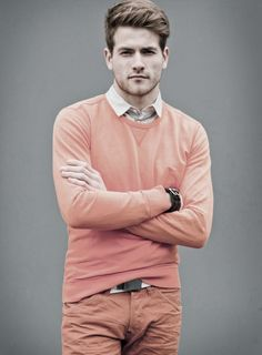 Pastel pink menswear fashion editorial - http://pinterest.com/arenaint