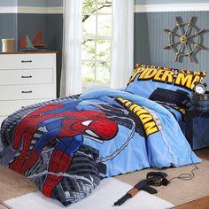 twin size bedding for little boys | Spiderman Coral Velvet Bedding [Kids Duvet Covers 38]
