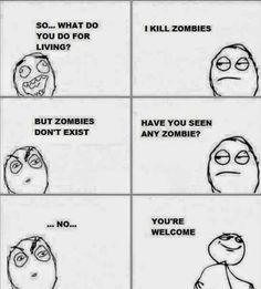 zombies, cool, funny, meme,