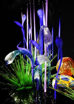 """Dale Chihuly  MILLE FIORI, 2005  """"A KIND OF MAGIC: THE ART OF TRANSFORMING""""  AUGUST 6 - NOVEMBER 27, 2005  MUSEUM OF ART LUCERNE  LUCERNE, SWITZERLAND"""
