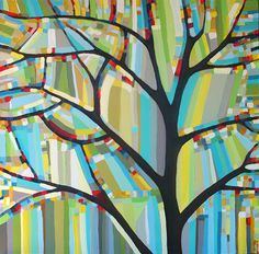 Painting idea for class art project or mosaic Art Projects For Teens, School Art Projects, Art For Kids, Middle School Art, Aboriginal Art, Teaching Art, Tree Art, Art Education, Artsy Fartsy