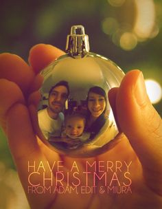 Cute Christmas card with family picture.