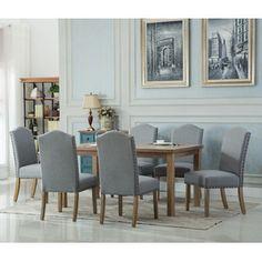 Tinisha 7-Piece Solid Wood Dining Set