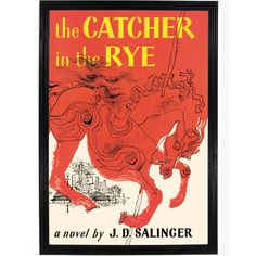 Catcher in the Rye classic cover art, print only or framed. Perfect for adorning your home or office walls and as a reminder of the literary greats. Available at FalstaffTrading.com!
