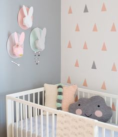 Specialising in beautiful baby Nursery and Children's room designs. Bringing you the best in Nursery and Kid's room decor - a place for your child to learn, play, dream and grow. Baby Bedroom, Nursery Room, Girl Nursery, Girl Room, Girls Bedroom, Nursery Decor, Nursery Ideas, Chic Nursery, Bunny Nursery
