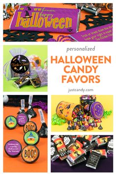 Find everything you need for trick-or-treaters, and for your Halloween party sweets with the large selection of personalized candies, gifts and bulk candy for passing out. Classroom Halloween Party, Halloween Party Favors, Halloween Desserts, Halloween Birthday, Halloween Boo, Halloween Candy, Holidays Halloween, Halloween Costumes For Kids, Happy Halloween