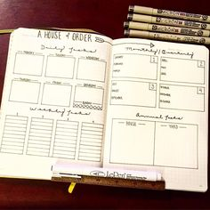 """""""A House of Order I stole the layout from an {ex}planner I have laying around. A plan to keep things clean isn't the worst idea, eh?!"""" Absolutely love this idea! Puts everything in perspective."""