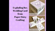 Part One - Exploding Box wedding Card with Meant to Be and Stitched Be Mine Dies from Stampin' Up! - YouTube