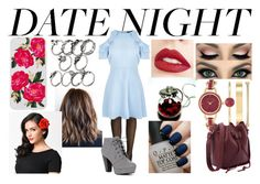 """""""Hot Date Night"""" by jassmiine-1 ❤ liked on Polyvore featuring New Look, Jouer, Anne Klein, Sonix, OPI and DateNight"""
